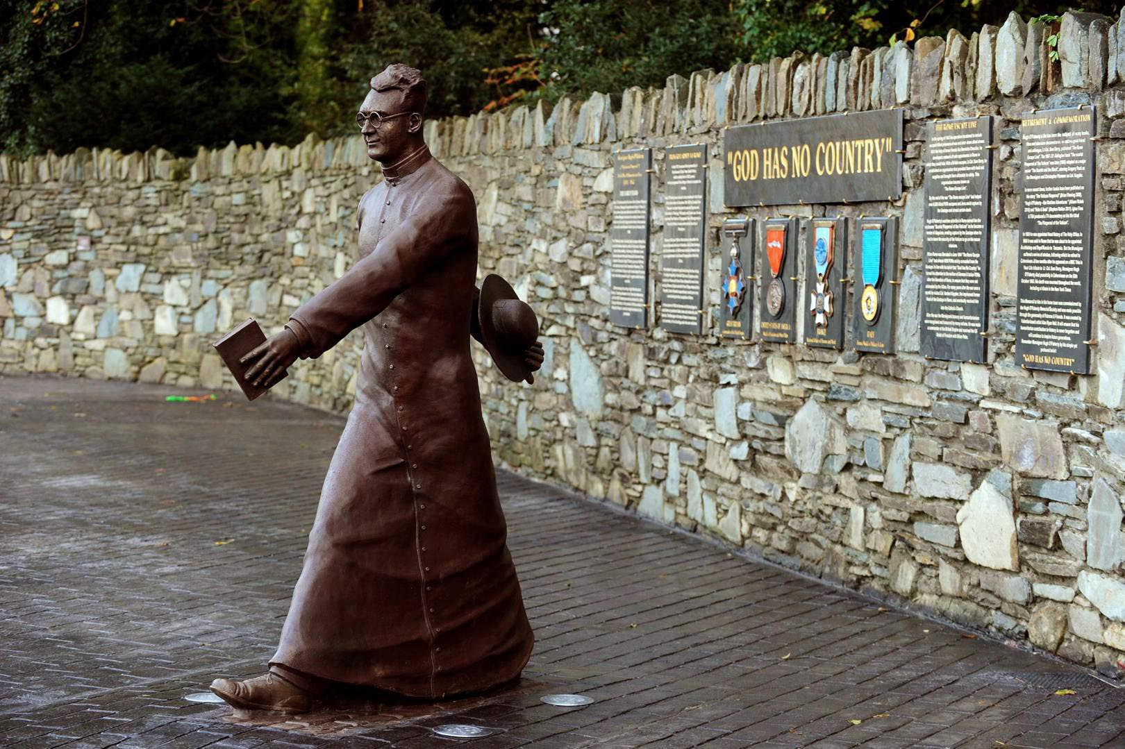 Monsignor Hugh O'Flaherty Statue in Killarney, County Kerry